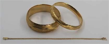 JEWELRY 14kt Gold Bracelet Grouping