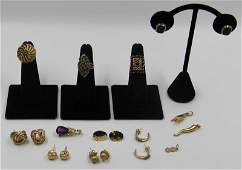JEWELRY Miscellaneous Gold Jewelry Grouping
