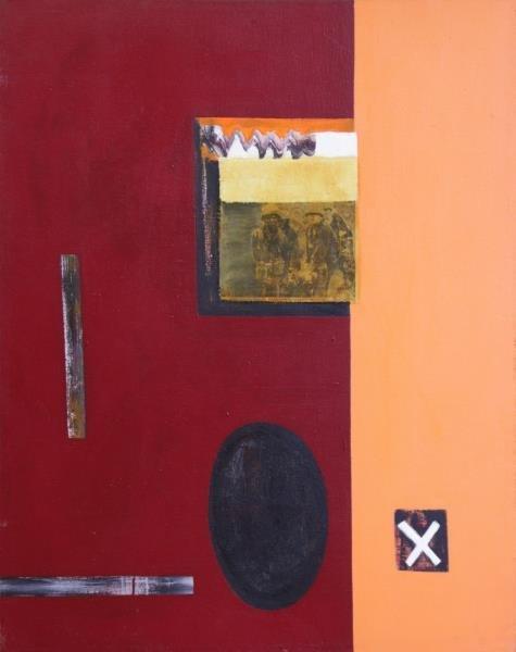 EISENBERG, Leslie. Mixed Media on Canvas. Abstract