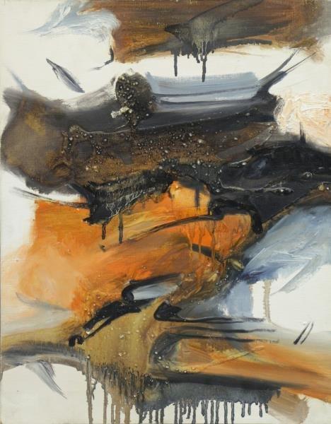 SAKAI, Kazuya. 1962 Mixed Media on Canvas.