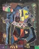 MOSTEL Zero Oil on Canvas Modernist Owl