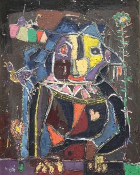 MOSTEL, Zero. Oil on Canvas. Modernist Owl.