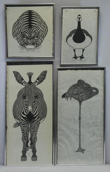 HNIZDOVSKY, Jacques. 4 Signed Woodcuts.