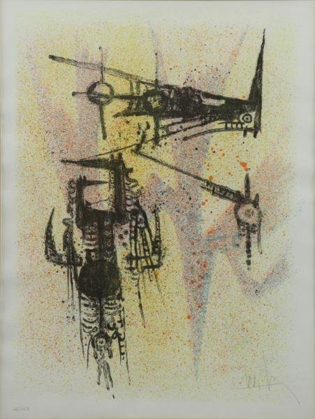 """LAM, Wifredo. Lithograph. Untitled - From """"Flight"""""""