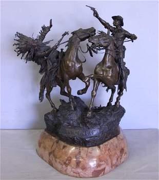 "KAUBA, Carl. Bronze Sculpture ""How-Kola!"""