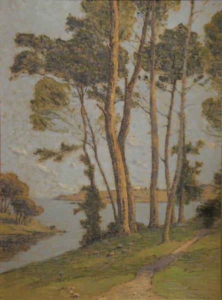 CARLOS-LEFEBVRE, Charles. Oil on Board. Landscape.