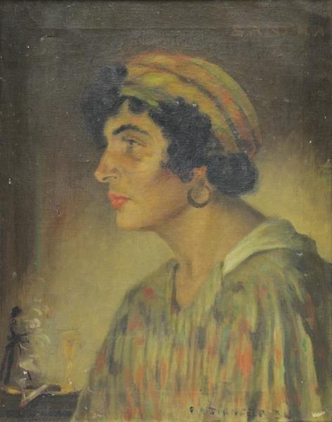 DIRNFELD, Frederick. Oil on Canvas Portrait