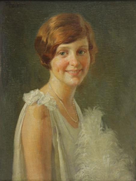 AMORSOLO, Fernando. Oil on Panel. Portrait of a