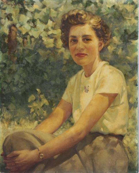 VON FRANKENBERG, Arthur. Oil on Canvas. Portrait