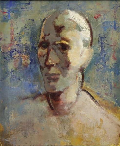 FLOCH, Joseph. Oil on Canvas. Portrait of a Man.