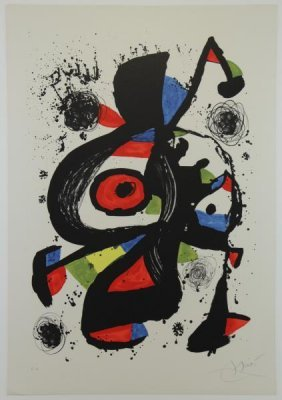 "Miro, Joan. Lithograph In Colors ""follet"" 1978."