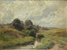 WEBER, Paul. Oil on Canvas. Landscape.