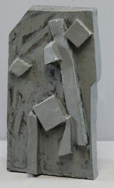 PERLMAN, Joel. Glazed Ceramic Abstract Sculpture.