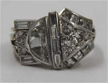 JEWELRY 18kt White Gold Art Deco Diamond Ring