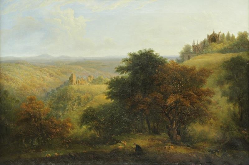 DAWSON, Henry. Oil on Canvas. English Landscape