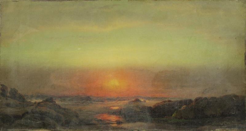 HART, William. Oil on Canvas. Coastal Landscape.