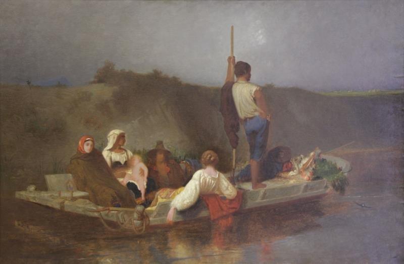 "After Auguste Ernest Hebert. Oil on Canvas. ""La"