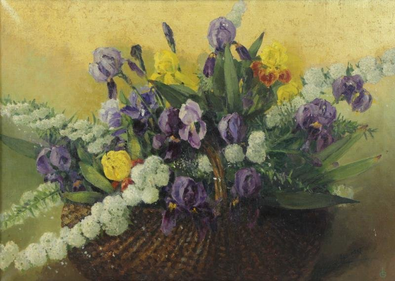 LAMBERT, George. Oil on Canvas. Flowers in a