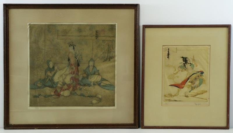 LORD, Elyse Ashe. Two Color Etchings.