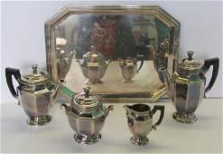 SILVERPLATED 4 Piece Christofle Tea Service