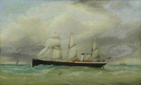 Penny, William Daniel. Oil On Canvas. Steamship.