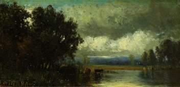 BEERS, Julie. Oil on Panel. Hudson River School