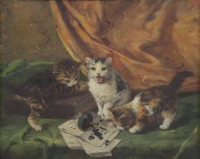 De Neuville, Alfred A. Brunel. Oil On Panel.