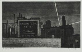 "Landeck, Armin. Drypoint Etching ""manufacturer's"