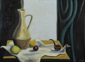"""Guillot, Alvaro. Oil On Canvas. """"dans La Maison"""