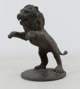 Grunwald, Ernst. Bronze Sculpture Of A Lion.