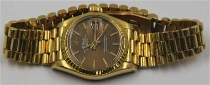 JEWELRY. Ladies 18kt Gold Rolex Oyster Perpetual