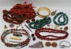 JEWELRY. Vintage Jewelry Grouping.