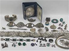 JEWELRY Assorted Silver Jewelry Grouping