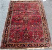 Antique Finely Woven Sarouk Throw Rug