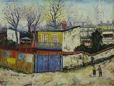 MACLET Elisee Oil on Canvas Paris Street Scene