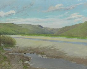 Dumond, Frank. Oil On Canvas. Coastal Landscape.