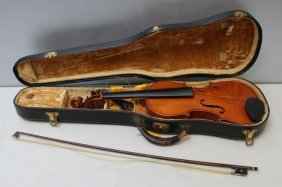 Heinreich Heberlein Jr, Signed Violin And Bow In