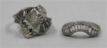 JEWELRY Platinum and Diamond Engagement Ring