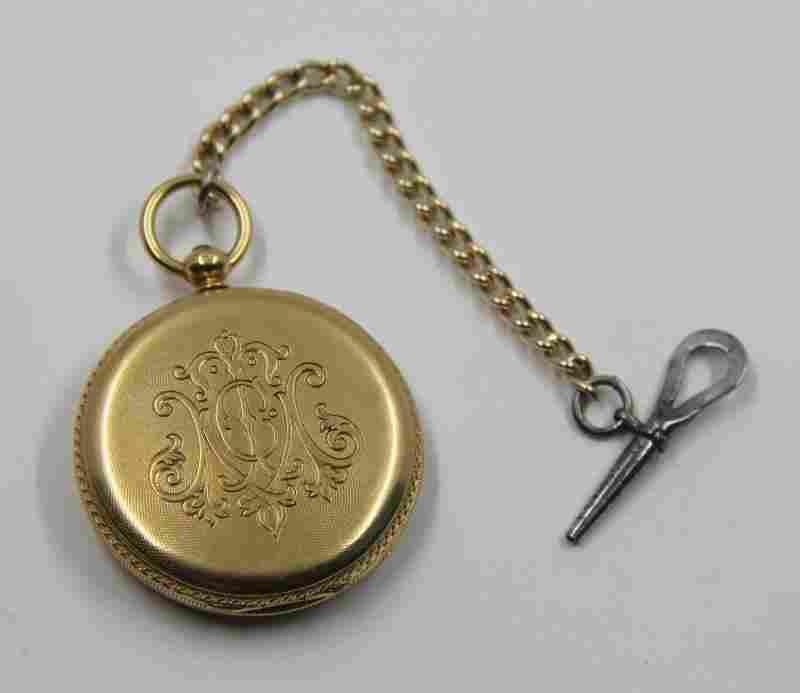 JEWELRY. Men's 18kt Gold Patek Philippe Pocket