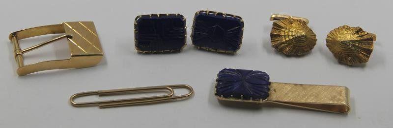 JEWELRY. Men's Gold Jewelry Grouping.