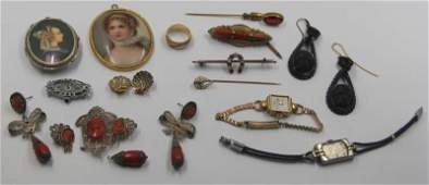 JEWELRY Assorted Antique Jewelry Grouping
