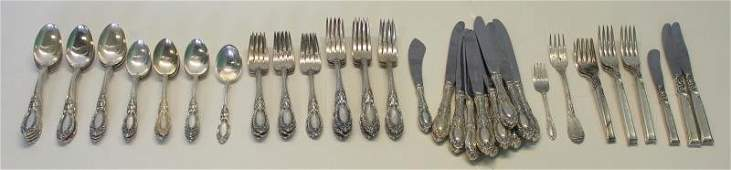 STERLING Towle King Richard Flatware Service