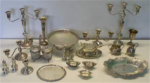 STERLING. Miscellaneous Grouping of Silver Hollow