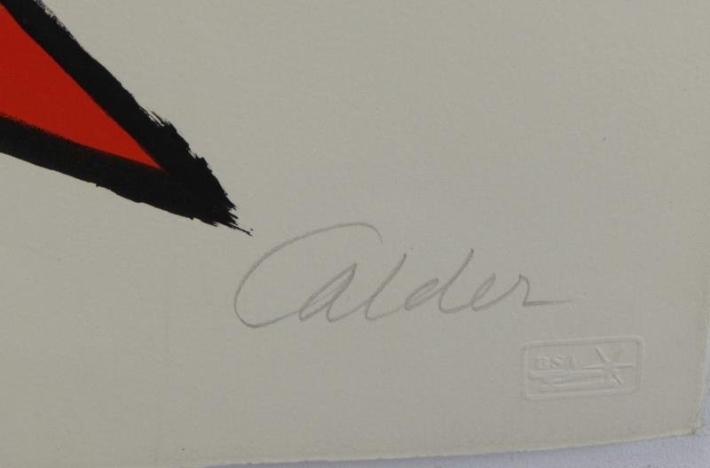 CALDER, Alexander. Pencil Signed Lithograph. - 2
