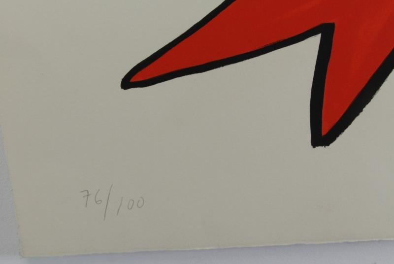 CALDER, Alexander. Pencil Signed Lithograph. - 3