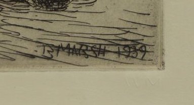 "MARSH, Reginald. Etching. ""Modern 1939 Venus"". - 3"