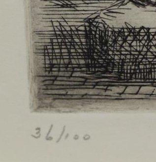 "MARSH, Reginald. Etching. ""Modern 1939 Venus"". - 4"
