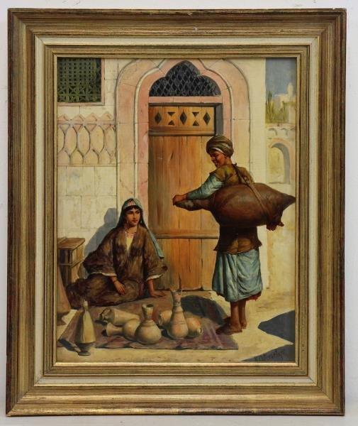 OSTERSETZER, Carl Oil on Wood Panel. Orientalist - 2