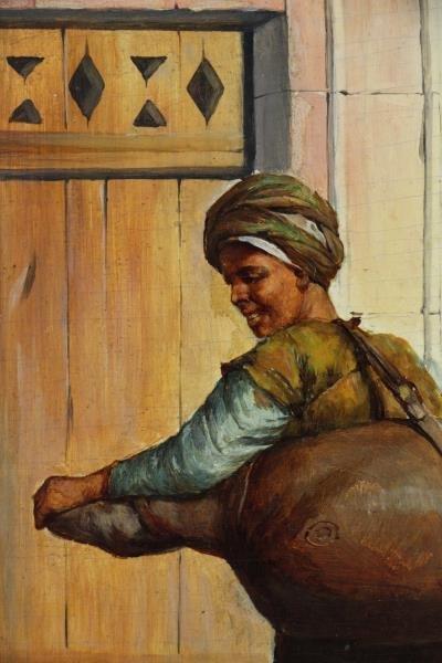 OSTERSETZER, Carl Oil on Wood Panel. Orientalist - 4