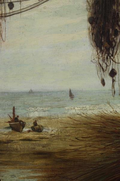 MCINTYRE, Joseph. Oil on Canvas. Basket Weaving on - 4